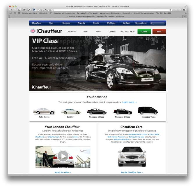 iChauffeur web design