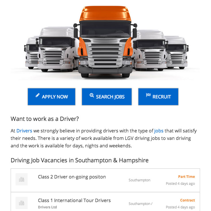 Drivers jobs feed